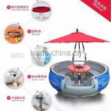 HEITRO BBQ donut boat for entertainment, China Manufacturer Original manufacture restaurant boat (6 persons type)