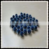 blue color tinsel poms,glitter pom pom ,with assorted size ,