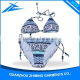 Young Girls Hot Sexy Open Bikini Model Girls Swimwear Custom Wholesale Triangle Bikini Big Size Tankini