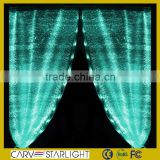 2015 hot fiber optics fabric decoration led curtains for stage backdrops