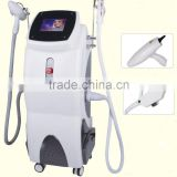 Ipl Hair Removal Beauty Equipment/e-light Remove Diseased Telangiectasis Ipl Rf+nd Yag Laser Multifunction Machine Pain Free