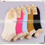 boat socks womens liner socks no show Retro Ruffle Frilly mesh cotton short lace ankle socks mix colours