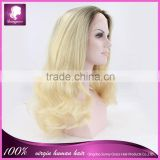 Cheap blond color synthetic cosplay u part wigs on hot sale