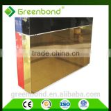 Greenbond acrylic mirror mosaic aluminium composite panel acp acm wall tile panel sheet