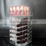 eye catching clear custom acrylic lipstick tower,acrylic lipstick organizer,acrylic spinning lipstick tower