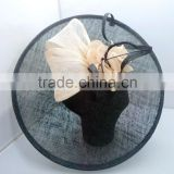Elegant Black Sinamay Hat Base Fascinators Wholesale For Church /Wedding T210                                                                         Quality Choice