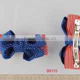 2014 Fashion new fabric Bowknot Barrette french barrette hair clips wholesale New Arrivals