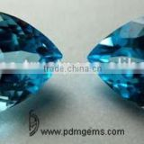 Sky Blue Topaz Semi Precious Gemstone Pear Cut Faceted Lot For White Gold Ring From Wholesaler