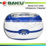 2014 New design stainless steel digital ultrasonic cleaner with transparent top cap (VGT 2000 )