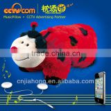 2012 HOT Toys for Children! Foldable Plush Beatle Music Pillow! - CE SGS ROHS