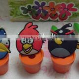 well design environmental friendly lovely bird shape soft pvc bird pen magnet