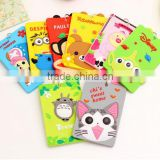 wholesale fancy embossed cartoon animal shape business card cover pvc silicone passport case bus ID card holder with key ring