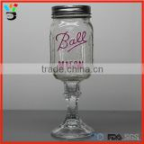 16 oz thick stem wine glass for party redneck wine glass ball mason jar with packaging