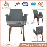 10year oem wood design dining chair with rush seat