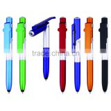 3 in 1 style pen tip touch stylus ball point pen with LED flash light, promotional gift pens