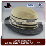 new arrival custom promotional blue fedora beach hat