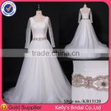 dubai see-through tulle sleeve with beaded crystals beading guangzhou wedding dress with prices