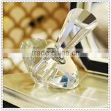 Fancy Crystal Diamond Shape Perfume Bottle For Wholesale Supplier