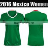 Wholesale Female football shirt 2016-2017 best quality home green women Mexico soccer jersey