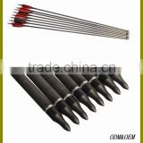 Customized Hunting Carbon Fiber Arrow With Ture Feather For Compound Bow And Arrow,Carbon Fiber Arrow Shafts