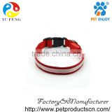 Dog Collar, Led USB Rechargeable Pet Safety Collar Waterproof Light up Adjustable Flashing Collar (Red)