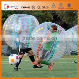 Wholesale inflatable bubble football/soccer with air pump