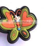 Lovely shoe charms, soft pvc shoe decoration buttons
