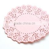 "NEW Party Packaging 4.5"" Pale Pink Round Paper Doilies kids Birthday Party Supplies"