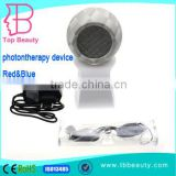 Spherical design mini LED light therapy phototherapy unit for home use or office