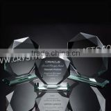 Wholesale Jade Glass Trophy Awards Curved Plaque - (10mm Thick) Free Engraving for the jade glass trophy awards