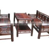Antique design furniture set of table and sofa chair made from Vietnam natural bamboo