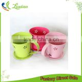 cheap bulk mini powder coated metal iron tea cup and saucer flower pot for home decoration