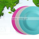 BSCI audit Natural Bamboo Fiber Tableware Round Plate