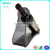 Wholesale funny wine bottle holder for security display ,acrylic decorative single wine rack