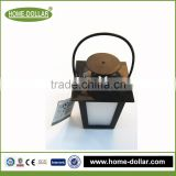 Hot sell professional manufacturer battery operated mini outdoor camping square plastic lantern with led light