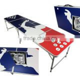 2015NEW 8' ICE BAG ICY CHEST COOLER BEER PONG TABLE ALUMINUM PORTABLE ADJUSTABLE FOLDING INDOOR OUTDOOR TAILGATE PARTY GAME PONG