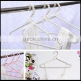 Fashion Plastic Pearl Bow Shirt Clothes Hangers Anti-Slip for Adult Top,custom plastic hanger manfuacturer