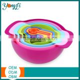 10 PCS Colorful Plastic Mixing Bowls, Container, Colander, Sieve and Measuring Cups Mixing Bowls Set
