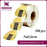 Newair Professional 500 pcs gel Aluminum Nail Form