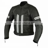 Leather Motorbike Jacket with straps design
