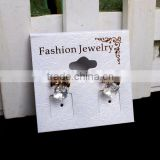 White PVC Earring Display Hang Cards Flocked Jewelry Hangtag High Quality PVC Display Jewelry Cards