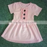 Manufacturer Hot children cotton material pure color dress for 2-7 year old little girl dress baby child dress wholesale
