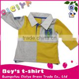 Stylish long sleeve polo baby boy tshirt