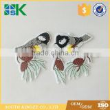 Bird Embroidered Sew Iron On Patch Badge Fabric Applique Lace Trim