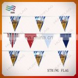 waterproof triangle pennant string flag banners