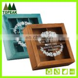 New Product 2016 custom logo printing wooden box Packaging Box