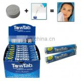 Inquiry About Promotional Gift Compressed Magic Towel.Compressed Tissue with Box Packing