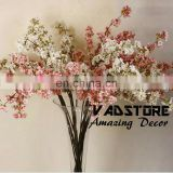 39 Inch Romantic Artificial Branches of Peach Cherry Blossom Silk Flowers Home Wedding Decoration Flower