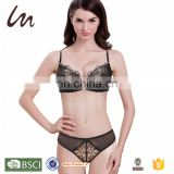 young girl sexy teen open strappy plunge push up hot sexy designer bra panty set your design