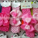 factory directly wholesale cute kids classica basic boutiquie bow with center rose hairband